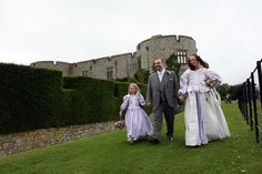With bridesmaid Orla at Chirk Castle.