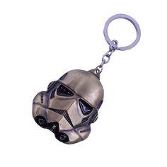 2016 New Hot Star Wars 3 Colors Keychain StormTrooper Helmet Storm Trooper Pendant Key Chain Darth Vader Mask Superhero Keyring