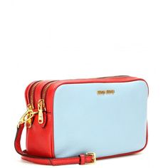 Miu Miu Leather Shoulder Bag (8.365 ARS) ❤ liked on Polyvore