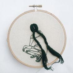 Very cool embroidery art by Asia's Next Top Model winner, Sheena Liam