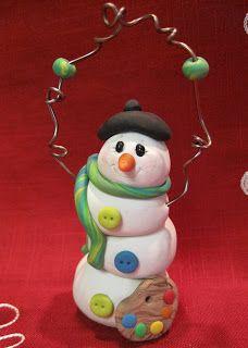 Angela Anderson Art Blog: Polymer Clay Snowmen - Kid's Art Class
