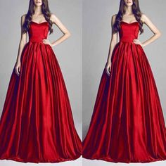 Sexy Red Strapless Long Dress