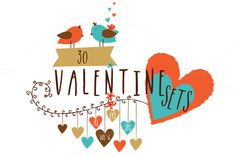 Valentine's Day Sets - Vol 6 by Allies Interactive on Creative Market