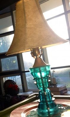 Vintage Glass Lamp Hemingray Insulators Emerald Green by Lifelooklens on - Composed of 2 antique Hemingray emerald green glass insulators, this beauty is truly one of a kind! Electric Insulators, Insulator Lights, Glass Insulators, Stil Inspiration, Deco Originale, Steampunk Lamp, Chandeliers, Lamp Bases, Lamp Light