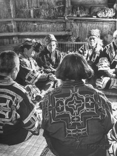 Ainu Wedding Ceremony. the Ainu are the Indigenous People of Japan.