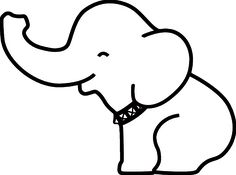 Pin Elephant Outline on Pinterest