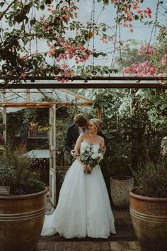 Greenhouse gorgeousness from this shabby chic wedding at the Grounds of Alexandria  | Image by Olguin Photography