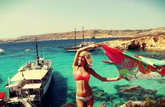 Blue Lagoon, Malta - When you're enjoying a weekend trip! :) #malta #travel