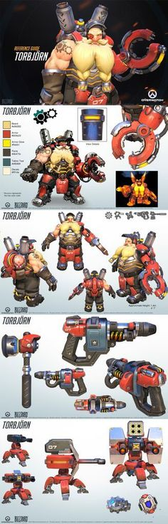 His sentry gun will help you muster the strongest defenses! Character Model Sheet, Character Modeling, Game Character, Character Concept, Deadpool, 3d Figures, Heroes Of The Storm, Game Concept Art, Character Design References