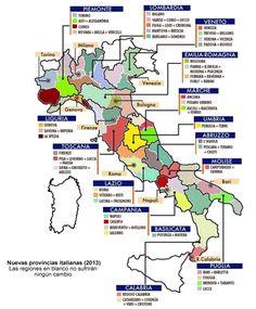 Nuevas provincias italianas 2012