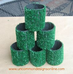 Astro Turf Tailgating Coozies.... { Tutorial } | Uncommon