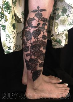 ruby jae tattooing~~~ my finished nettle.