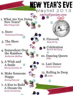 New Year's Eve Playlist 2013 via Nest of Posies