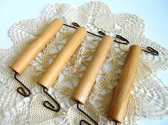 Remember When Department Stores Used These. Wood Handles.  Set of 4.