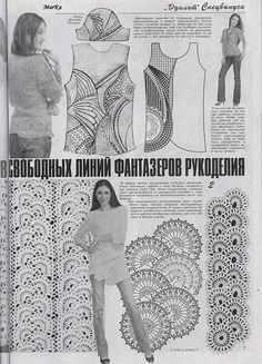 Как связать платье ленточным кружевом