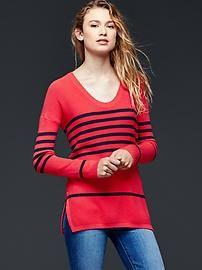Brooklyn stitch stripe pullover sweater