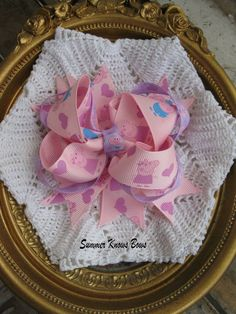 Peppa Pig Inspired Hair Bow by SummerKnowsBows on Etsy, $7.00