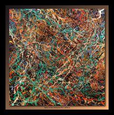 Tableau de Tehos acrylique sur toile 80*80 cm - Abstraction P412 #art #painting #tehos