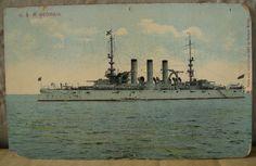USA Military Battleship. U.S.S. GEORGIA. circa 1907. E. Muller, Pub. Scarce. NoR