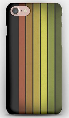 iPhone 7 Case Rainbow of colors, Lines, Number