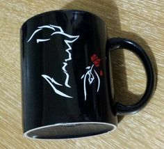Beauty and the Beast Broadway Musical Disney Coffee Cup Mug Rare Rose 10oz