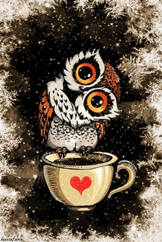 Animated gif shared by María José. Find images and videos about gif, owl and animated on We Heart It - the app to get lost in what you love. Animated Clipart, Animated Gif, Tom And Jerry Wallpapers, Beau Gif, O Ritual, Owl Wallpaper, Gb Bilder, Cute Good Morning, Card Sayings
