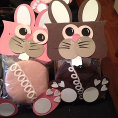 Easter crafts. will have to find something else to put inside since Hostess cupcakes are no longer around :(