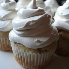 Marshmallow frosting: 4 large egg whites, 1 Cup ordinary sugar (white or brown), 1 pinch of salt, 1 tsp vanilla. On chocolate would be to die for!