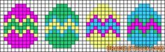 Easter Eggs perler bead pattern