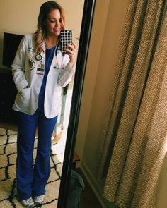 Blouse – The Loft. Skirt – The Loft. Blouse – The Loft. Pants – The Loft. Leather Jacket – H&M. Nurse Appreciation Gifts, Scrubs Outfit, Cute Scrubs, Physician Assistant, Med Student, Nursing Clothes, Medical Field, Med School, Nurse Life