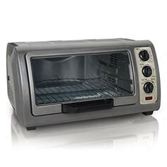 The solidly constructed Hamilton Beach Easy Reach Convection Oven is perfect for your kitchen counter with its large yet space-saving device. You can bake, broil, toast, and more with this useful oven. 6 Slice Toaster, Toaster Ovens, Cooking Stores, Bad Room Ideas, Kitchen Must Haves, Best Blenders, Hamilton Beach, Easy, Small Appliances
