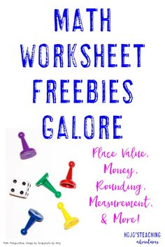 Sometimes a good ol' fashioned printable worksheet is the best way to help students get the math review they need. That's where this blog post comes into play! Click through to five seven, different FREE printables for place value, money, rounding, measurement, and more! Your 3rd, 4th, 5th, and 6th grade students will benefit from these!