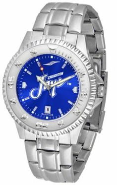 Creighton Blue Jays Competitor AnoChrome Men's Watch with Steel Band by SunTime. $91.67. Men. Officially Licensed Creighton University Bluejays Men's Stainless Steel Dress Watch. Links Make Watch Adjustable. AnoChrome Dial Enhances Team Logo And Overall Look. Stainless Steel. Showcase the hottest design in watches today! A functional rotating bezel is color-coordinated to compliment the NCAA Creighton Blue Jays logo. A durable, long-lasting combination nylon/leather ...