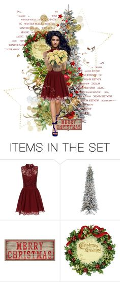 """A Merry Little Christmas"" by lois-boyce-flack ❤ liked on Polyvore featuring art"