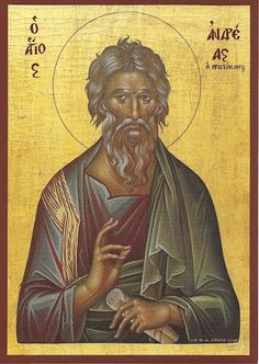 Andrew the Apostle icon Religious Images, Religious Icons, Religious Art, Byzantine Icons, Byzantine Art, Christ In Greek, Andrew The Apostle, Orthodox Catholic, Roman Church