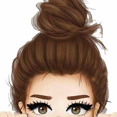 Designer Clothes, Shoes & Bags for Women Girl Drawing Sketches, Cute Girl Drawing, Girly Drawings, Cartoon Girl Drawing, Girl Cartoon, Cartoon Art, Beautiful Girl Drawing, Cute Girl Wallpaper, Cute Wallpaper Backgrounds
