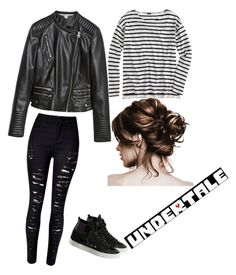 """""""my undertale outfit"""" by chill-its-me ❤ liked on Polyvore featuring Zara, J.Crew and WithChic"""