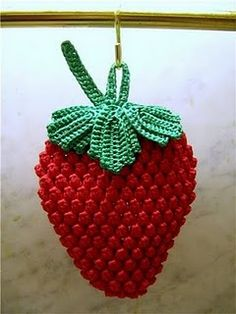 Strawberry Leaf Knitting Pattern : 1000+ images about Strawberry Crochet on Pinterest ...
