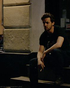 Only Gethin could make smoking on a stoop sexy. Actually Finn probably could too.
