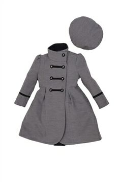 Rothschild Little Girls&-39- Wool Coat with Velvet Details Toddler ...