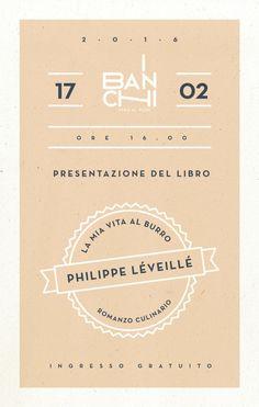 Save the date: presentazione libro 'La mia vita al burro' di Philippe Léveillé il 17 febbraio a I Banchi