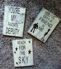 Toy Story theme - Kids room Signs ** Custom Made By Kara's Custom Memories… Toy Story Nursery, Toy Story Bedroom, Toy Story Baby, Toy Story Theme, Baby Boy Nursery Themes, Baby Boy Nurseries, Disney Themed Nursery, Toy Rooms, Kids Rooms