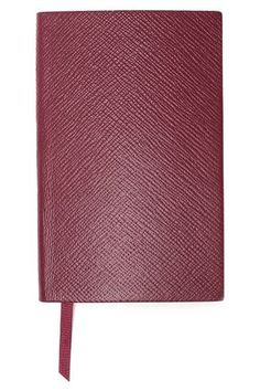 Shop Smythson Textured-leather Notebook In Purple from stores. Smythson, Leather Notebook, Burgundy, Texture, Home Decor, Style, Surface Finish, Swag, Decoration Home