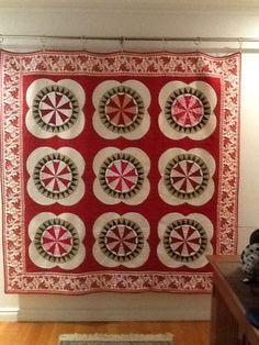 Michelle Yeo Quilt design, made by me at AQC Melbourne Vic 2009 hand pieced and machined quilted by me.