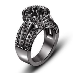 2.00 Carat Round Natural Diamond Prong Set Solitaire with Accents Ring Size 5-11 #aonedesigns