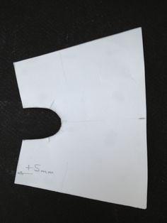 Gabarit en papier de la housse de pied