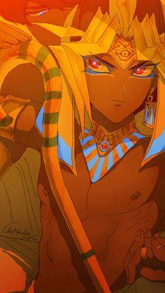 The Pharaoh from Atem Yugioh, Yu Gi Oh, Anime Lips, Black Anime Characters, Iphone Background Wallpaper, Historical Art, Fan Art, Hot Anime Guys, Egyptian Art