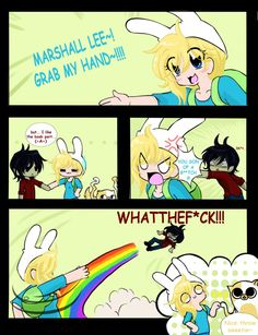 Hahahaha!!! This is too perfect. :) Marshall Lee and Fionna - Adventure Time