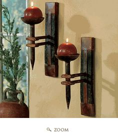Love these...so rustic and originial