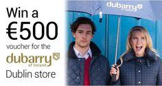 Win a €500 Dubarry of Ireland Voucher - http://www.competitions.ie/competition/win-a-e500-dubarry-of-ireland-voucher/